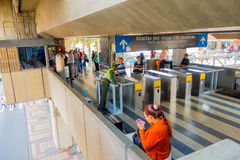 Beautiful and modern metro system in Medellin city Stock Images