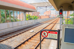 Beautiful and modern metro system in Medellin city Royalty Free Stock Images