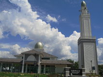 Beautiful modern mosque and blue sky background Royalty Free Stock Photography