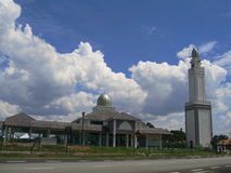Beautiful modern mosque and blue sky background Stock Image