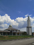 Beautiful modern mosque and blue sky background Stock Photos