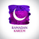 Beautiful modern Ramadan Kareem greeting card Stock Images