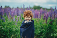 Beautiful modern red haired boy Royalty Free Stock Photo