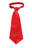 Beautiful modern red tie Royalty Free Stock Photography