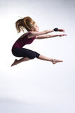 Beautiful modern style dancer. Modern ballet dancer posing on white background royalty free stock photo