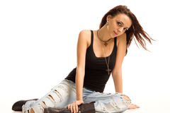 Beautiful modern teenager Stock Photo