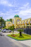 Islamic Center Mosque in Mataram. Beautiful modern, yet very traditional Islamic Center Mosque in downtown Mataram, Lombok, Indonesia Royalty Free Stock Photo