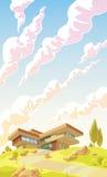 Beautiful Modern Villa Stock Image