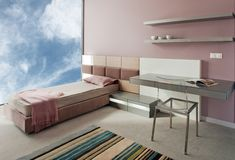 Beautiful and modern young room interior design. Royalty Free Stock Image