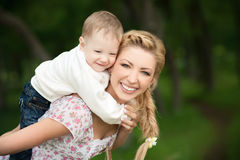 Beautiful mom with her son Royalty Free Stock Photography