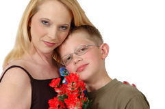 Beautiful Mom and Son Royalty Free Stock Photography