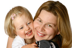Beautiful mom and toddler Stock Images