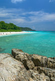 Beach Rock Sea. Beautiful Island of Thailand which has most beautiful sea water and most beautiful beach Stock Images