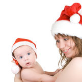 Beautiful mommy santa Stock Photography