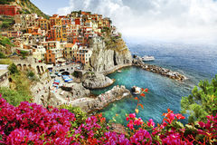 Beautiful Monarola village (Cinque terre) Royalty Free Stock Images