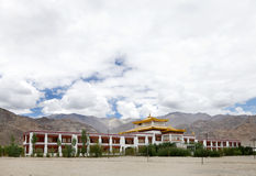 A Beautiful Monastery in the campus of Druk White Lotus school Leh. Monastery inside Druk white Louts school also called as rancho school stock photography