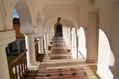 Beautiful monastery corridor Royalty Free Stock Images