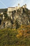 The Beautiful Monastery of Sabiona near Chiusa Klausen. Valle Isarco. Trentino Alto-Adige in Italy. Stock Photos