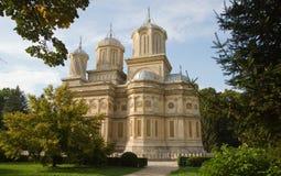 Beautiful monastry in Arges,Romania. Curtea de Arges monastry in Romania with beautiful architecture Stock Image