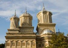 Beautiful monastry in Arges,Romania. Curtea de Arges monastry in Romania with beautiful architecture Royalty Free Stock Photo
