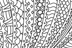Black and white pattern for coloring book pages stock photo