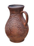 Beautiful monochrome decorative jug decorated with ornaments. Is Stock Image