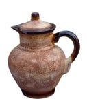 Beautiful monochrome decorative jug. Isolated on a white backgro Stock Photo