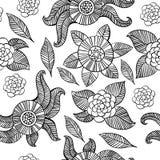 Beautiful monochrome Flowers set. Vector seamless pattern. Beautiful monochrome Flowers set. seamless pattern Royalty Free Stock Image