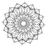 A beautiful monochrome mandala. Hexagonal star. A pattern for a. Color book. Picture for the design of the album. Template for printing on fabric. Image for Royalty Free Stock Photos