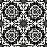 Beautiful monochrome pattern vintage ethnic ornament on a gray background Stock Image