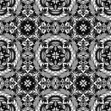 Beautiful monochrome pattern vintage ethnic ornament on a gray background Royalty Free Stock Images