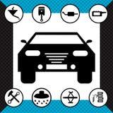 Beautiful monochrome road symbols vector illustration Stock Image