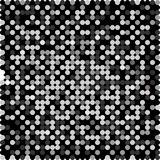 Beautiful monochrome small balls on a black background. (vector eps 10 vector illustration
