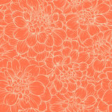 Beautiful monochrome vintage colors seamless background dahlia Hand-drawn. Design for greeting cards and invitations of wedding, b Royalty Free Stock Photo
