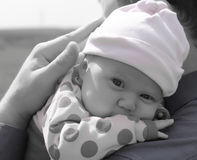Beautiful month-old girl Royalty Free Stock Photos