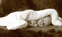 Beautiful month-old girl stock photography