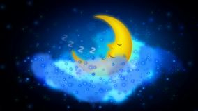 Beautiful moon best video background to put a baby to sleep, calming relaxing