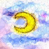 Beautiful moon in geometric styling abstract geometric Royalty Free Stock Photography