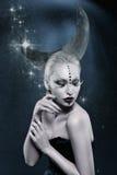 Beautiful moon girl stock photos