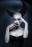 Beautiful moon girl Royalty Free Stock Photo