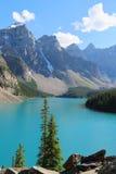 The beautiful Moraine Lake at Banff National Park Royalty Free Stock Image