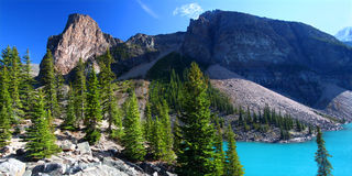 Beautiful Moraine Lake in Canada Royalty Free Stock Photo