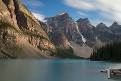 Beautiful Moraine Lake - Long exposure version Royalty Free Stock Images