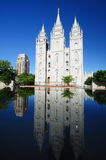 The Beautiful Mormon temple in Salt Lake City, Royalty Free Stock Photos