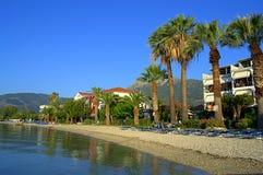 Beautiful morning beach,Greece Stock Image