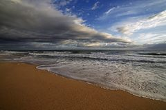 A beautiful morning on the beach at Sebastian Island State Park, Florida royalty free stock photo