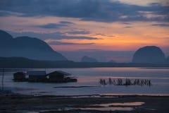 Beautiful morning light at Baan Sam Chong Tai Royalty Free Stock Images