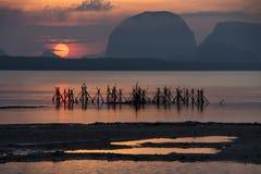 Beautiful morning light at Baan Sam Chong Tai Royalty Free Stock Photo