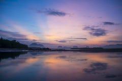 Beautiful morning light at Baan Sam Chong Tai Stock Photo