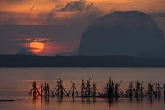 Beautiful morning light at Baan Sam Chong Tai Royalty Free Stock Photos